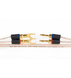 Двужильный акустический кабель в нарезку Van den Hul The Twin . Красная оплетка. Цена за 1 метр