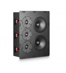 Встраиваемая акустическая система M&K Sound IW300 в закрытом корпусе. Металлический прямоугольный гриль под покраску. Цвет: Белый.